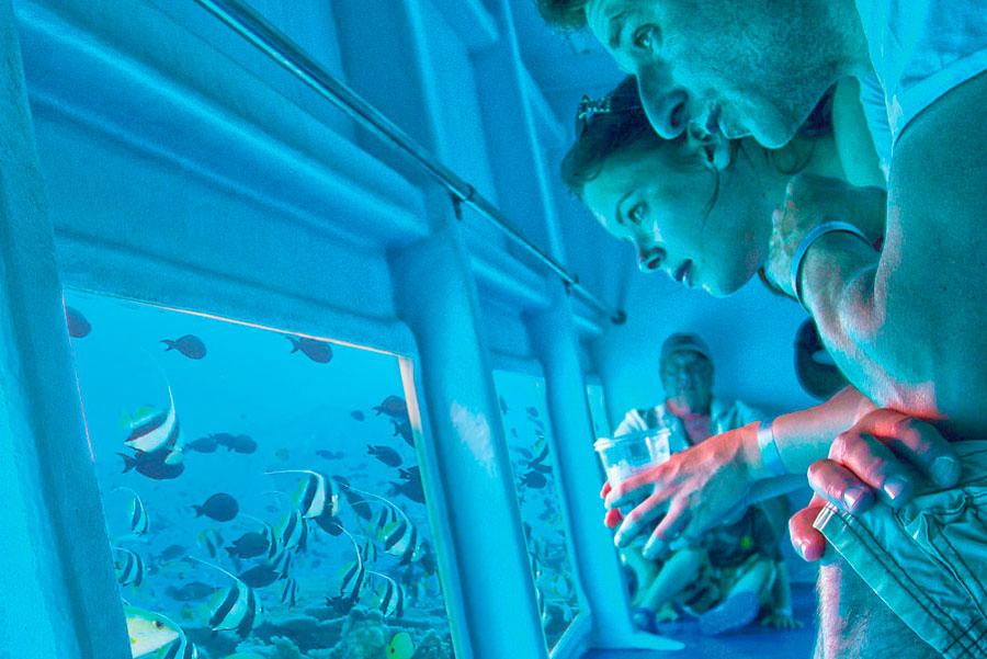Escursione in barca con fondo in vetro a Lanzarote