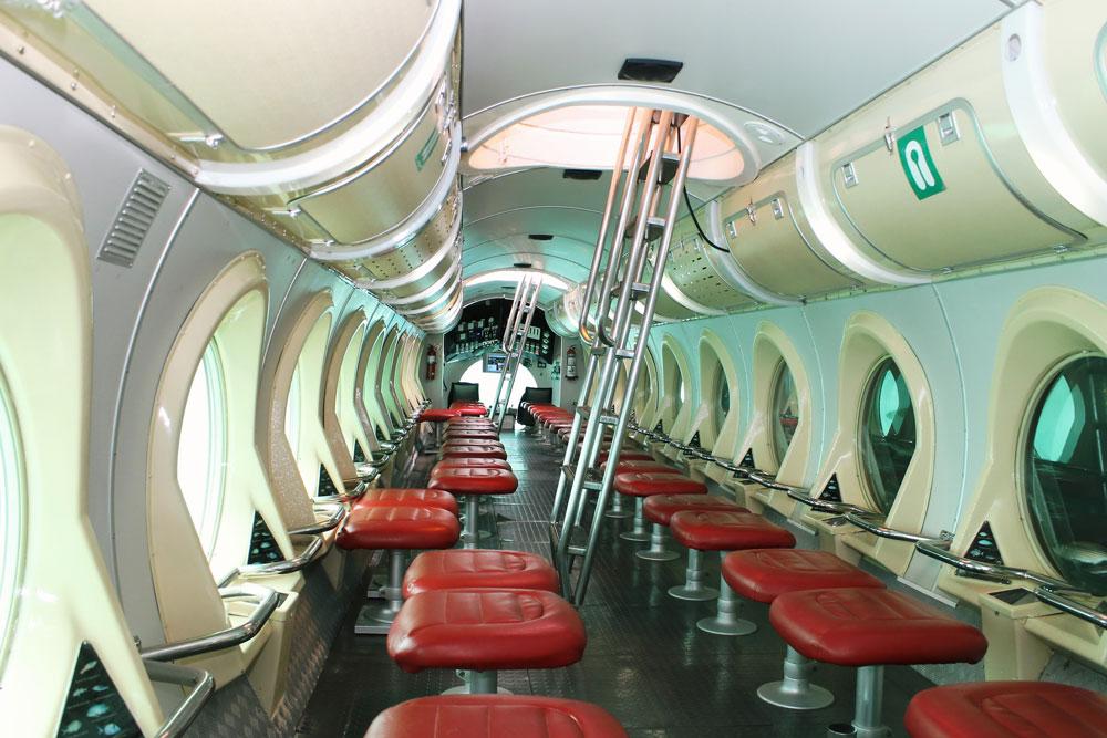 interno del sottomarino a lanzarote