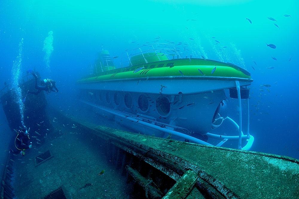 sottomarino nei fondali di Lanzarote